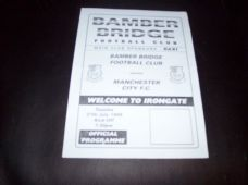 Bamber Bridge v Manchester City, 1999/2000 [Fr]